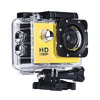 Нашлемная экстрим камера, A7 Sports Cam, HD 1080p, спортивная, водонепроницаемая, цвет - желтый (ST), фото 1