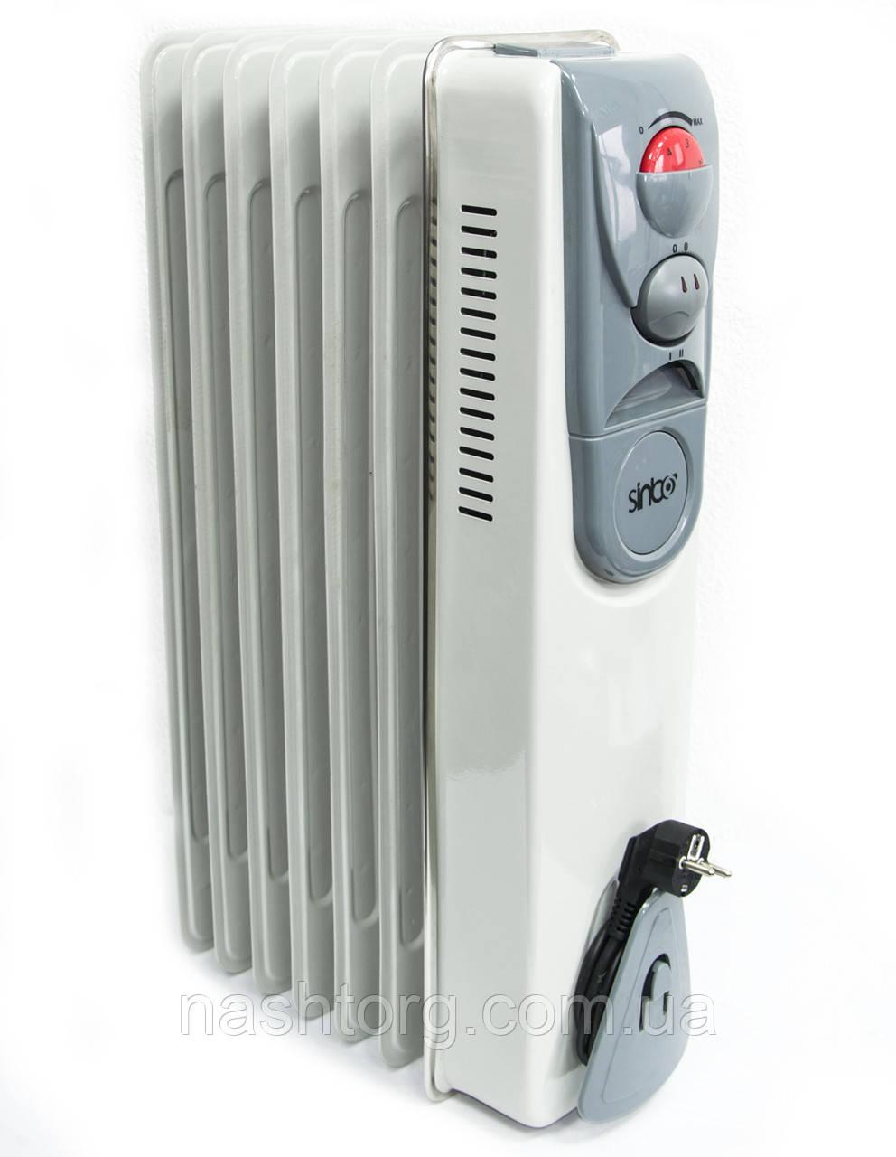 Напольный масляный обогреватель, Sinbo CY-7 1500W, конвектор электрический, радиатор, с доставкой