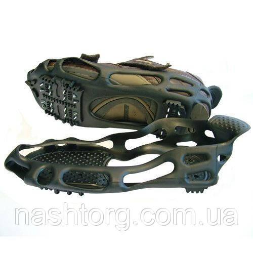 Ледоступы, противоскользящие накладки на обувь, BlackSpur, 24 шипа, размер - M (36-39)