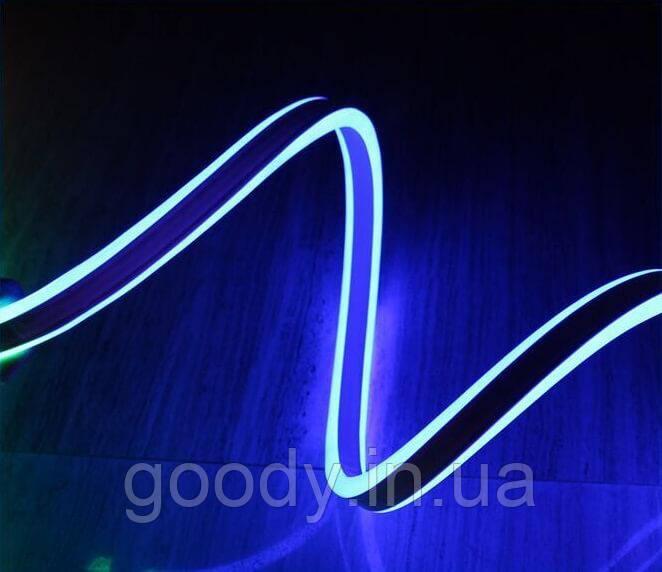 Двостороння LED неонова стрічка LTL FLEX 8х16мм 120 LED 2835smd IP67 220v Blue
