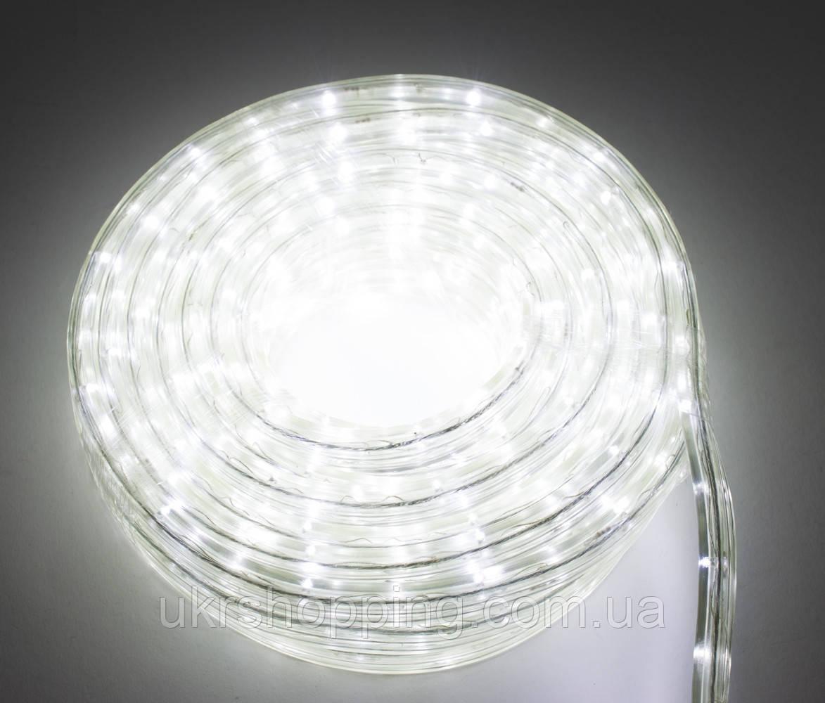 Светодиодная дюралайт гирлянда на 8 метров, Белая, LED гирлянда для улицы | вулична гірлянда на ялинку (SH)