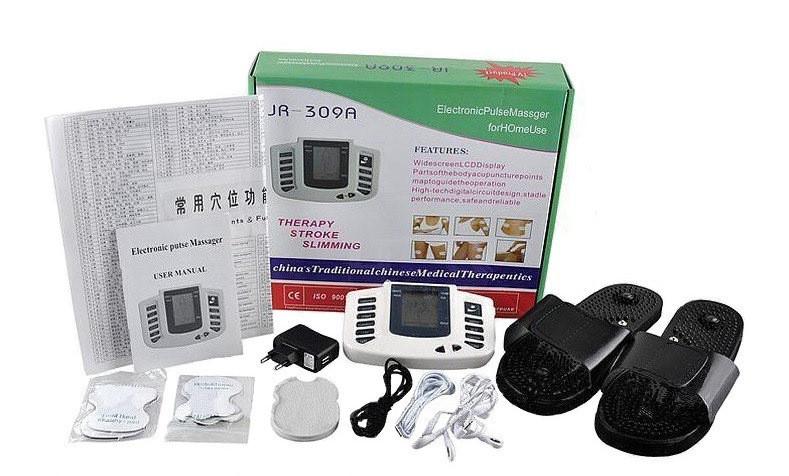 Електронний масажер JR-309, електро міостимулятор для всього тіла, з доставкою по Києву та Україні