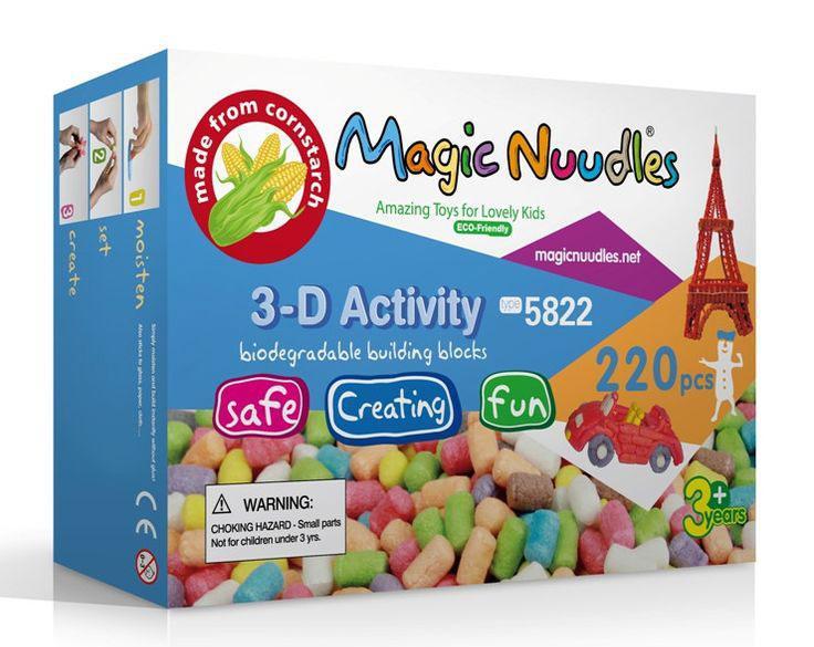 Детский конструктор, липучка, Magic Nuudles, развивающий, 220 деталей
