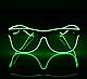 Окуляри світлодіодні прозорі El Neon Ray Green (неонові), фото 3