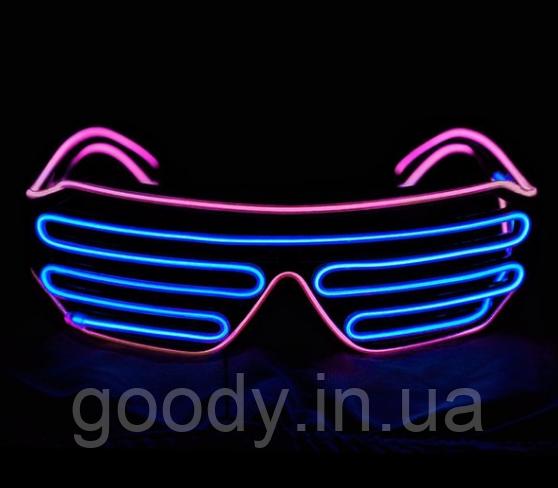 Окуляри світлодіодні El Neon Spiral Blue Pink (неонові)