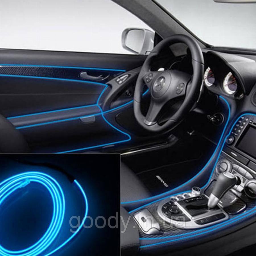 Гнучкий світлодіодний неон LTL для автомобіля 5 метрів DC 12v Blue