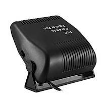 Авто-вентилятор для машины от прикуривателя 12 вольт Ceramic Heat & Fan 150W (68791) в салон автомобиля (ST), фото 1