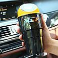 Мусорное ведро с крышкой, на дверь, в автомобиль, Car Trash Bin, вид - чёрное с желтой крышкой (GK), фото 5