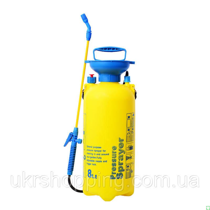 🔝 Обприскувач, Вп-8, Pressure Sprayer, 8 л., з доставкою по Києву та Україні   🎁%🚚