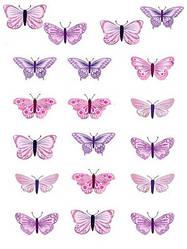 Вафельна картинка для кондитерских виробів, топерів, пряників, капкейків Метелики (листок А4) 19