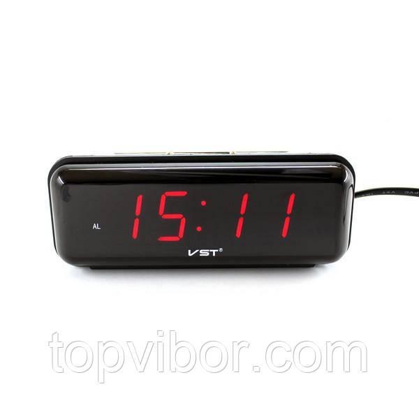 Настольные Лед часы VST 738 с Красной подсветкой, электронные часы с будильником | настільний годинник (VT)