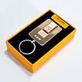Акумуляторна USB запальничка, BMW (Art - 811) Золотиста, кишенькова запальничка спіральна, фото 2