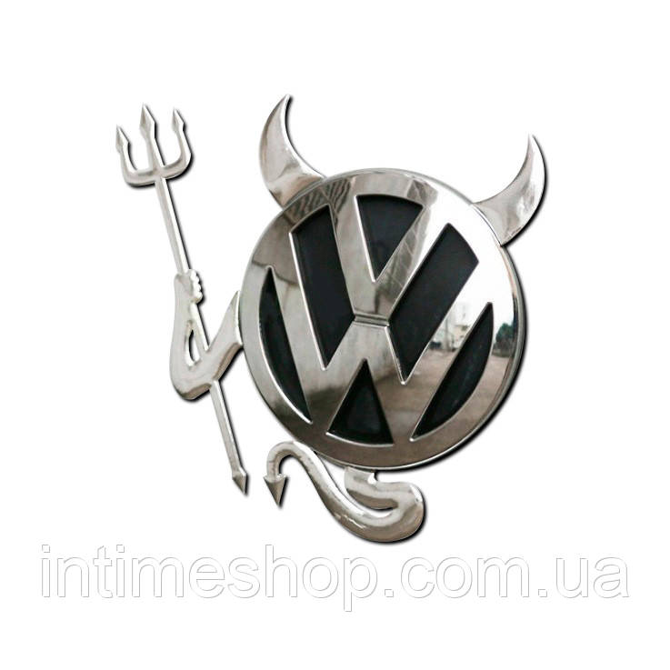 Оригинальная наклейка на авто Diablo - автонаклейка, цвет - серебристый, с доставкой по Украине (TI)