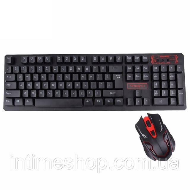 Беспроводная игровая клавиатура и мышь для компьютера UKC HK-6500, с доставкой по Киеву и Украине