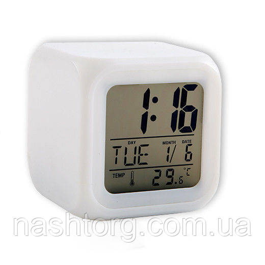 Электронные настольные часы с подсветкой Хамелеон Glowing LED Color Change с доставкой по Украине