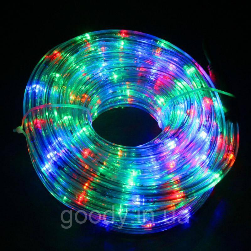 """Зовнішня Герметична LED гірлянда Дюралайт """"Duralight"""" 20 метрів Мульти-Кольоровий, 360 Ламп, 8 режимів"""
