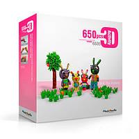Развивающий конструктор, для детей, Magic Nuudles, 650 деталей - кролики, фото 1