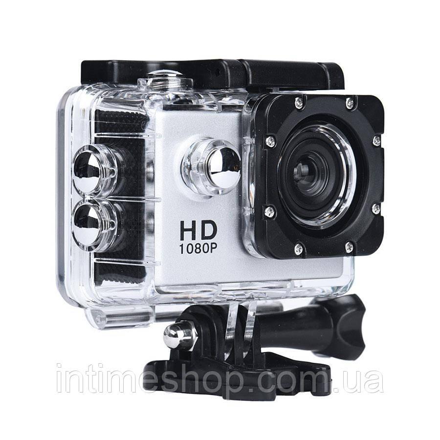 Экшн камера на шлем, A7 Sports Cam, HD 1080p, налобная видеокамера, для спорта, цвет - серебристый (TI)