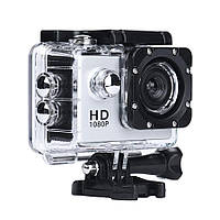 Экшн камера на шлем, A7 Sports Cam, HD 1080p, налобная видеокамера, для спорта, цвет - серебристый (TI), фото 1