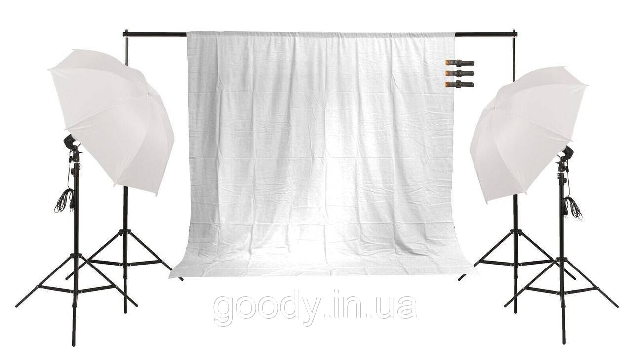 Набір постійного світла + фотофон FST PHOTO FF-155 для блогерів