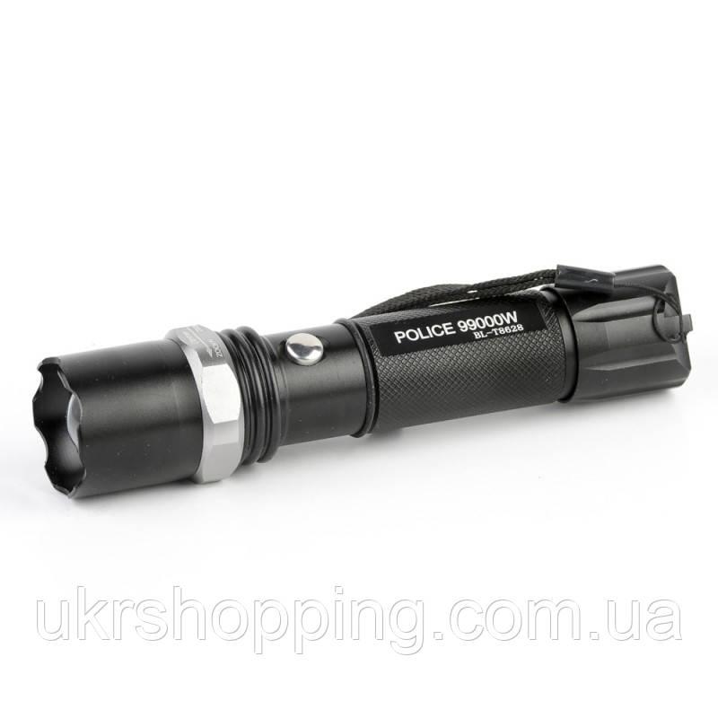 Светодиодный фонарь на велосипед, с аккумулятором, Police BL T8628, в кейсе + зарядка