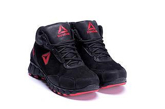 Мужские зимние кожаные ботинки  в стиле Reebok Crossfit  ПК-R-03 черн.W, фото 3