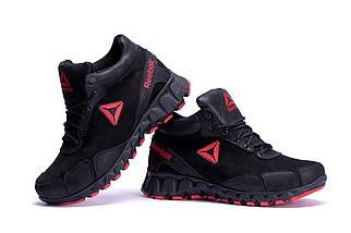 Мужские зимние кожаные ботинки  в стиле Reebok Crossfit  ПК-R-03 черн.W, фото 2