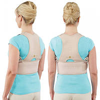 Магнітний ортопедичний корсет для спини, від сутулості, Royal Posture, колір - бежевий, розмір L