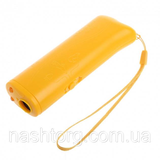 Отпугиватель для собак, Ultrasonic, AD-100, Желтый.эффективная, защита от собак