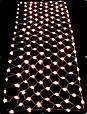Новорічна гірлянда сітка 180 LED Синя, білий кабель, світлодіодна гірлянда на вікно | лед гирлянда, фото 3