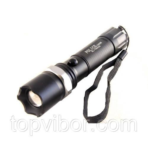 Мощный ручной фонарик Bailong 1000W BL-T8626 Черный,  аккумуляторный светодиодный фонарик (VT)