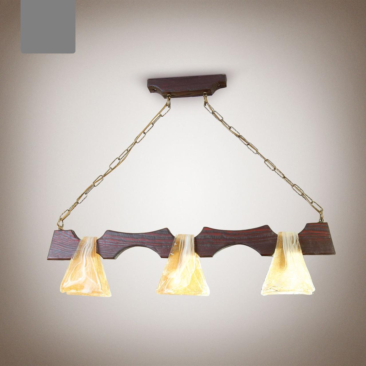 Люстра деревянная, 3-х ламповая 1413