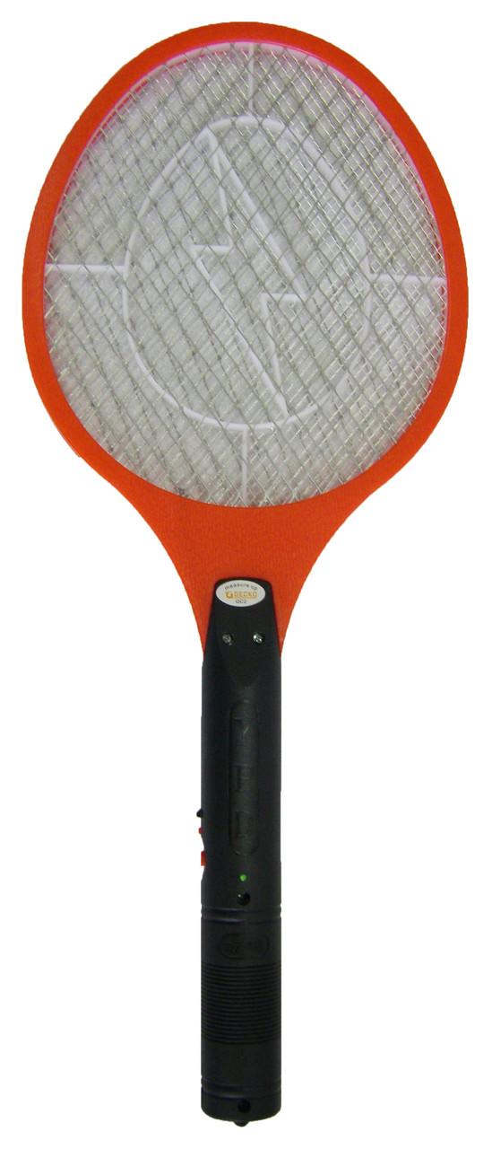 Електрична ракетка проти комарів Червона, мухобойка електрична на акумуляторі | электрическая мухобойка