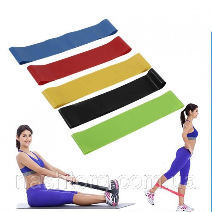 Ленточный эспандер для фитнеса набор, Fitness Tape, резинки для тренировок и спорта (5 эспандеров/уп.)