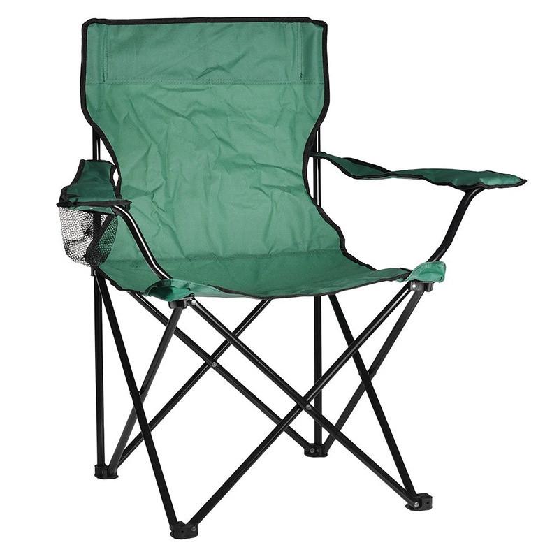 """Складной стул для пикника, """"Паук"""", с подстаканником, цвет - зелёный"""