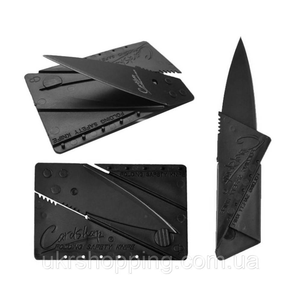 Распродажа! Складной нож-кредитка CardSharp 2 Черный - sharp card ніж кредитка по Києву в Україні