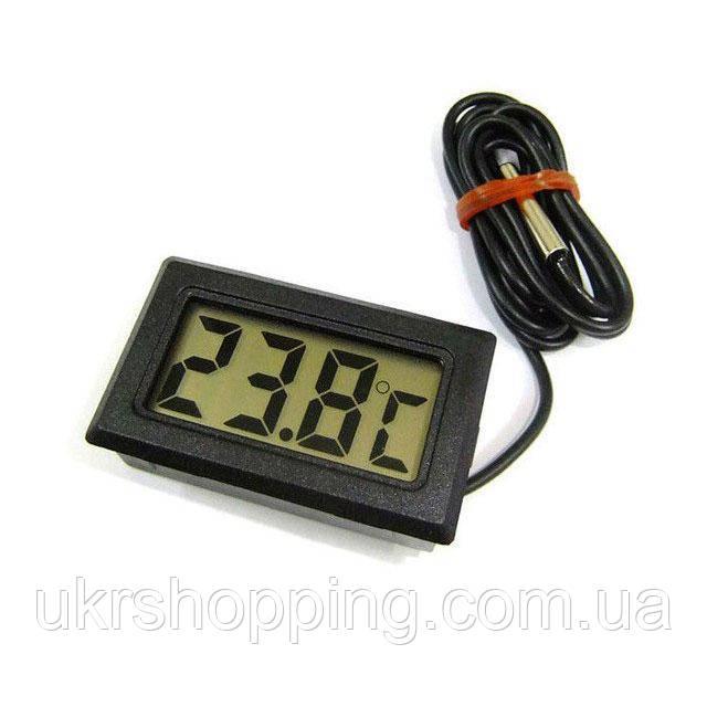 Цифровой термометр с выносным датчиком 48x28.6x15 мм, электронный градусник | цифровий термометр (SH)