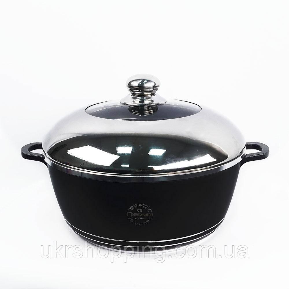 Кастрюля с антипригарным покрытием, Dessini, 4.5 л., алюминиевая, с толстым дном