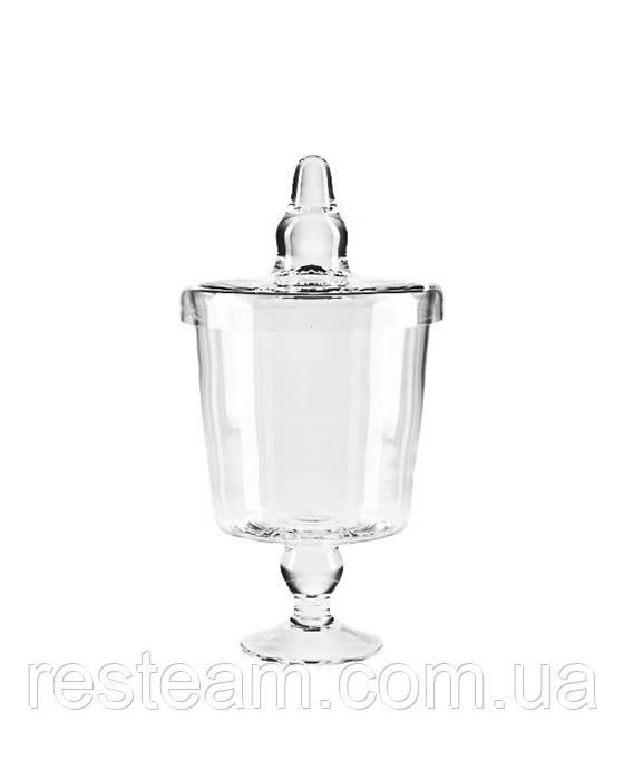 Конфетница стекло с кр. (d-20см/h-38см) mzV043