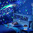 Вращающийся проектор звездного неба, ночной светильник, Star Master Dream Rotating, цвет - синий (GK), фото 8