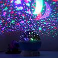 Вращающийся проектор звездного неба, ночной светильник, Star Master Dream Rotating, цвет - синий (GK), фото 9