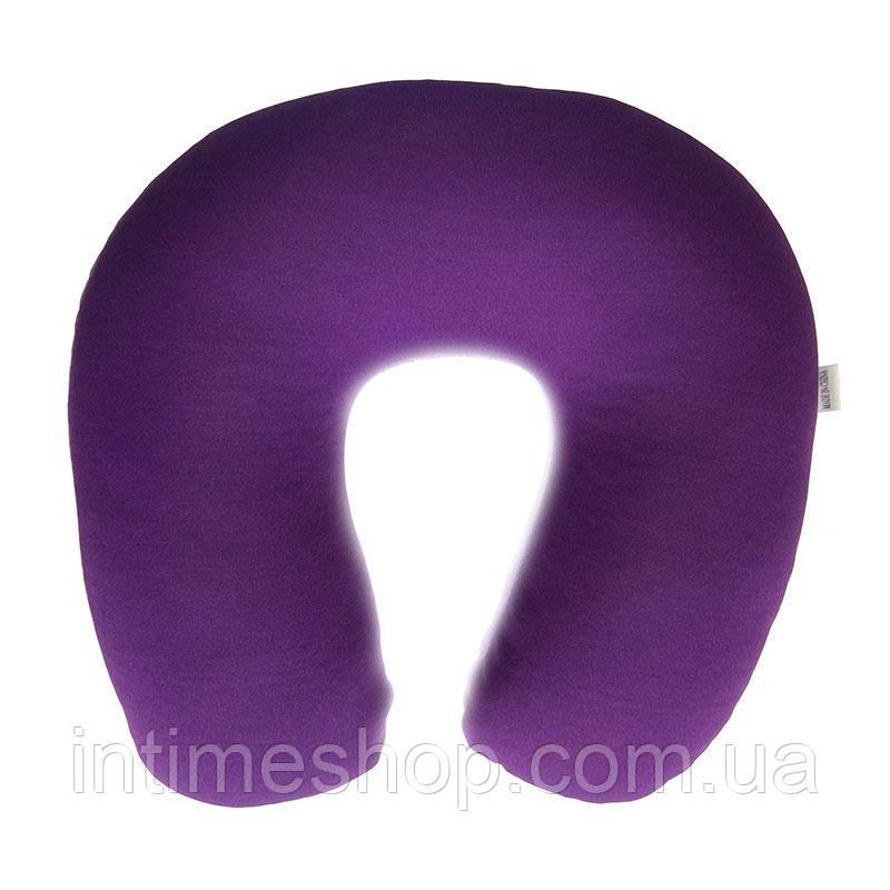 Дорожная подушка-подголовник для путешествий Memory Foam Travel Pillow - Фиолетовая, с доставкой по Украине