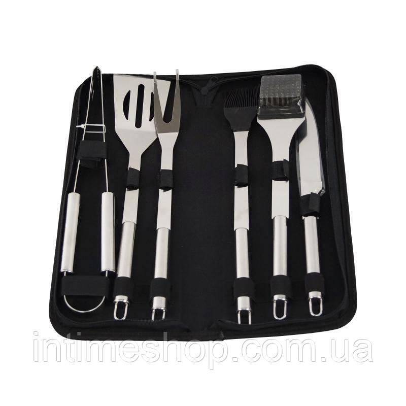 Набор для гриля и барбекю, подарочный, для пикника, 6 предметов, в чехле, (доставка по Украине)