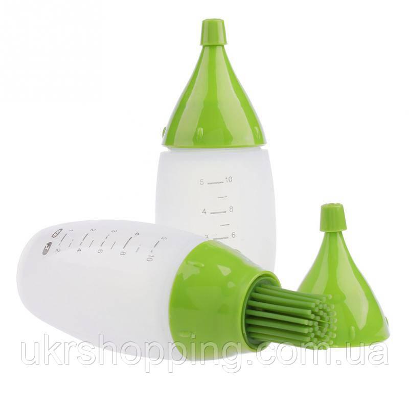 🔝 Комплект силіконових пляшечок, з мірною шкалою, Chef's Bottle Kit, + щіточка | 🎁%🚚