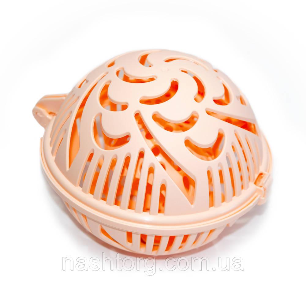 Контейнер для стирки бюстгальтеров Flexy Bra Washer, цвет - персиковый, с доставкой по Киеву и Украине