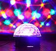 Музичний диско куля з флешкою і ПДУ, LED KTV Ball Чорний, світиться диско куля з блютузом, фото 5