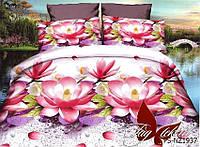 Семейный комплект постельного белья полисатин с 3D эффектом PS-NZ1937