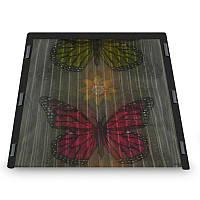 Москітна сітка на двері на магнітах Insta Screen (Magic Mesh) з метеликами, антимоскітна шторка