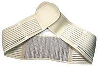 Пояс для попереку. Використовується і як ,пояс для підтримки спини.Турмалиновый, бежевий.До 110 см, фото 1