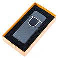 Електрозапальничка спіральна акумуляторна Classic Fashionable, Сіра Матова, USB запальничка, 6746, фото 3